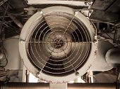 picture of rotor plane  - Image of Metal fan inside old aircraft - JPG