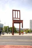 Geneva. Chair, Symbol Of Prohibition Of Personnel Mines And Cassette Bombs