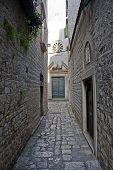 Narrow Street Leading To Church