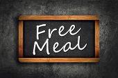 Free Meal Title On Restaurant Slate Chalkboard