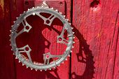 Recycled Bicycle Crank As Door Handle