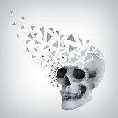 triangle human skull with shadow