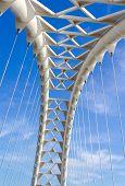 Arch On The Humber Bay Bridge In Toronto