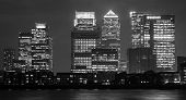 Canary Wharf In London At Night