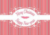 pic of candy cane border  - Candy cane label Merry christmas and happy new year - JPG