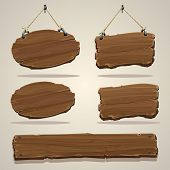 pic of nail-design  - Wood board on the rope - JPG