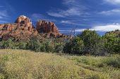 Cahedral Rocks and Oak Creek Canyon in Sedona Arizona