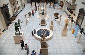 LONDON, UK - AUGUST 24, 2014: Victoria and Albert Museum exhibition hall. V&A Museum is the world's