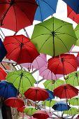 Umbrellas in a market