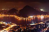 pic of ipanema  - Night View of Rio de Janeiro with Lake and Ipanema Beach - JPG