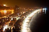 image of ipanema  - Night View of Rio de Janeiro with Lake and Ipanema Beach - JPG