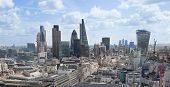 London view. City of London one of the leading centres of global finance