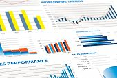 Sales Performance And Business Graphs