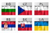 Slavic Countries Flags