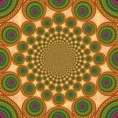 picture of kolam  - vortex background for designers colorful tunnel and shapes - JPG
