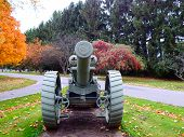 old cannon in cemetery