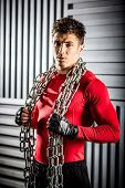 Muscular Young Guy With Chain