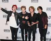 LOS ANGELES - NOV 23:  5 Seconds of Summer at the 2014 American Music Awards - Press Room at the Nokia Theater on November 23, 2014 in Los Angeles, CA