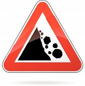 Rockfall Sign
