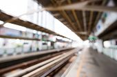 Abstract Blurred Train Station