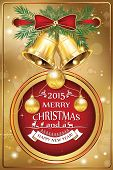 Greeting celebration card for Christmas and New Year