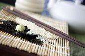Close Up Wasabi With Seaweed