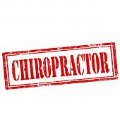 foto of chiropractor  - Grunge rubber stamp with text Chiropractor - JPG