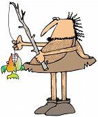 Caveman fisherman
