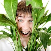 Surprised Young Man In Leafs