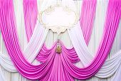 White And Pink Curtain Backdrop Background