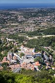 Aerial View Of The National Palace In Sintra