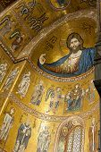 Colossal half-length figure of Christ in the Monreale cathedral