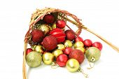 Basket  And Christmas Balls