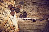 Vintage Still Life With Old Coins