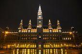 Rathaus Building In Vienna, Austria