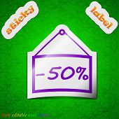 picture of 50s  - 50 discount icon sign - JPG