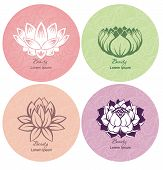 picture of nail-design  - Collection of Lotus for your design - JPG