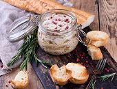 picture of french toast  - Traditional french dish rillette sort of pate - JPG