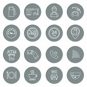 pic of glyphs  - Line gas station icons - JPG