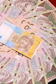picture of money prize  - Background of the Ukrainian money hryvnia - JPG