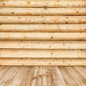 foto of log fence  - log wall of yellow pine for background - JPG