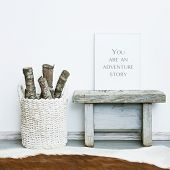 image of scandinavian  - wooden frame YOU ARE AN ADVENTURE STORY - JPG