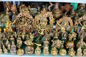 picture of hindu-god  - Hindu gods and Buddha statues and figurines Antiques market Saigon  - JPG