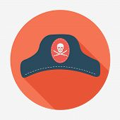 picture of pirate hat  - Pirate theme icon - JPG