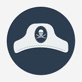 stock photo of pirate hat  - Pirate theme icon - JPG