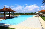 image of gazebo  - Pool and gazebo at the Saman Villas - JPG