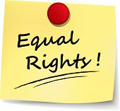 stock photo of equality  - illustration of equal rights note on white background - JPG