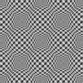 stock photo of quadrangles  - Design seamless square volumetric pattern - JPG