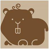 stock photo of gerbil  - Hamster icon  - JPG