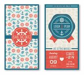 picture of marines  - Set of romantic wedding invitations in marine style - JPG